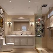 欧式风格简约卫生间马桶装饰