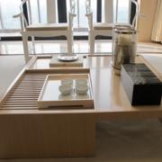 日式原木浅色茶几设计