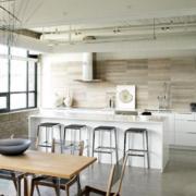 北欧风格清新一字型厨房装饰图