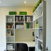 现代化风格书房书柜隔断装饰