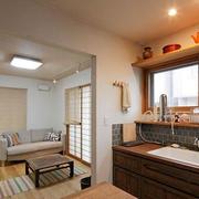 日式简约风格原木厨房装饰