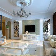 欧式田园风格客厅硅藻泥背景墙装饰
