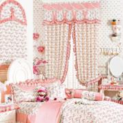 韩式简约风格粉色飘窗装饰
