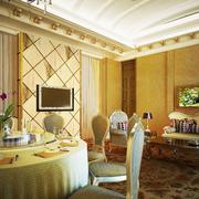 欧式奢华饭店包间电视背景墙装饰