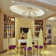 欧式奢华风格餐厅酒柜装饰