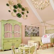 清新绿色儿童卧室