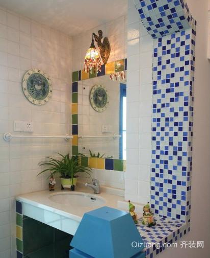 2015全新地中海风格公寓卫生间装修效果图