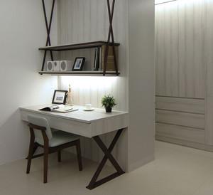 90平米小户型现代时尚小书房背景墙装修效果图