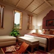 东南亚风格深色系房间卧室装饰