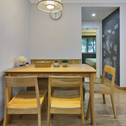日式简约餐厅原木桌椅装饰