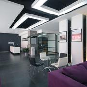 后现代简约风格办公室背景墙装饰