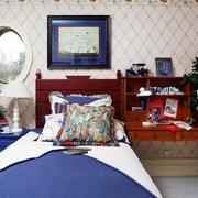 美式风格密集式卧室背景墙装饰