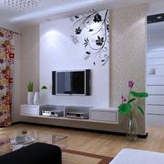 现代简约风格印花电视背景墙
