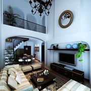 地中海风格拱形电视背景墙装饰