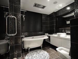 后现代风格深色系卫生间墙饰装饰