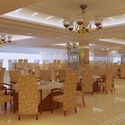 欧式风格奢华饭店吊顶装饰