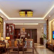 现代温馨客厅博古置物架