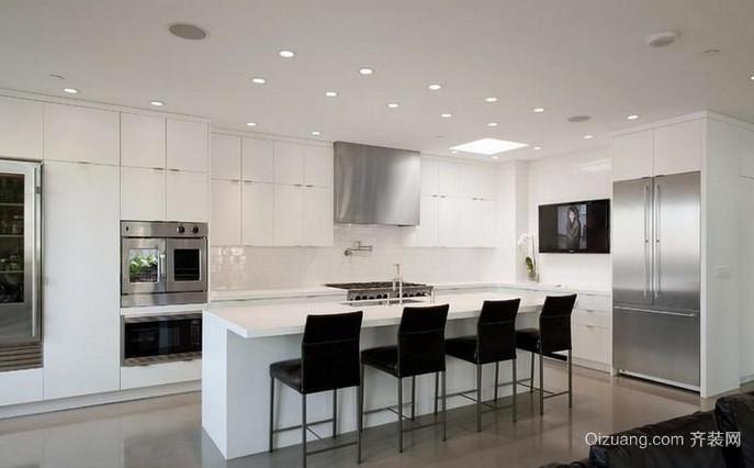 120平米大户型开放式厨房装修效果图