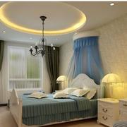 卧室简约风格圆形吊顶装饰
