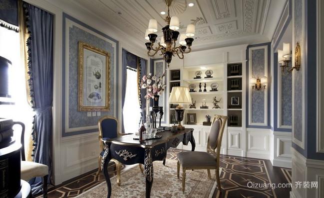 三室一厅法式风格书房设计装修效果图欣赏