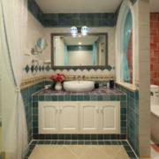 卫生间简约欧式浴室柜装饰