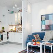 L型小户型简约风格厨房装饰