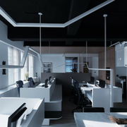 后现代风格办公室简约吊顶装饰