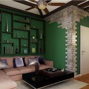 东南亚简约风格客厅沙发装饰