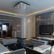 现代简约风格大理石客厅电视背景墙装饰