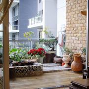 中式简约风格阳台装饰