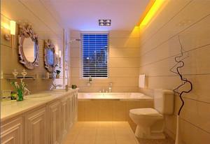 2015现代欧式70平米洗手间吊顶背景墙装修效果图