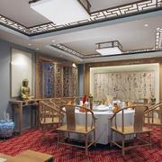 中式简约风格饭店古韵装饰