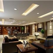 现代简约风格办公室皮制沙发装饰