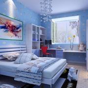 浅蓝色简约风格儿童房墙饰装饰