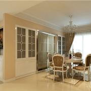 欧式精致风格厨房推拉门装饰