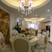 欧式风格餐厅奢华桌椅装饰