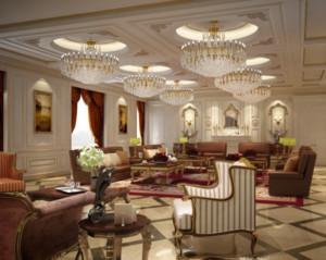 90平米精美法式客厅装修效果图
