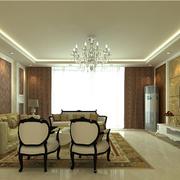 欧式风格客厅吊顶灯饰装饰