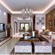 欧式简约风格小户型客厅茶几装饰