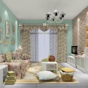 韩式清新风格客厅飘窗装饰