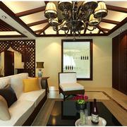 优雅气氛的客厅吊顶