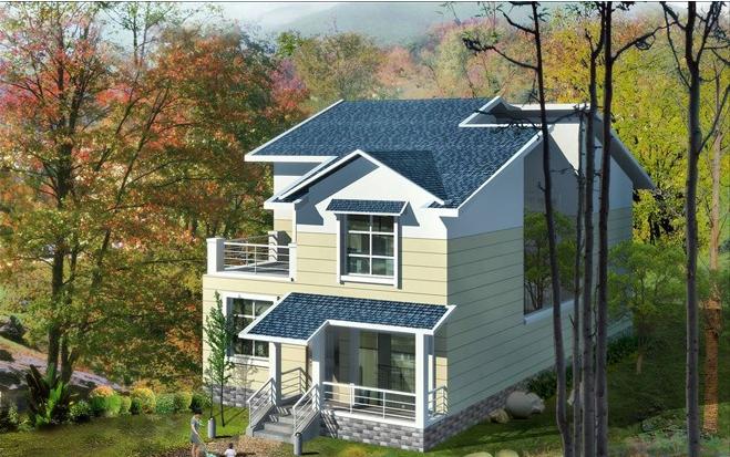 农村 现代 小 洋楼 外观效果图 齐装网装修效果图