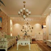 欧式简约拱形客厅背景墙装饰