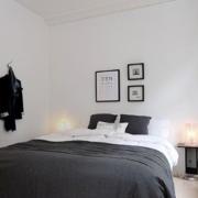 白色纯洁公寓卧室