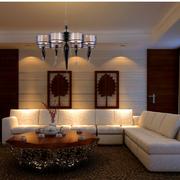 小户型简约风格客厅吊顶装饰