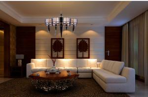 东南亚小户型客厅吊顶装修效果图