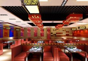 中式风格火锅店装饰