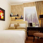 现代简约风格卧室置物架装饰