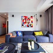 公寓简约风格沙发背景墙装饰
