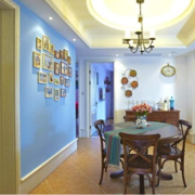 餐厅简约风格照片墙装饰